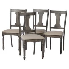 Gray Dining Chair Thick Cushions Chairs Joss Main Lorient Set Of 2