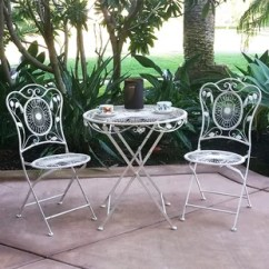 Bistro Tables And Chairs How To Upholster A Chair Back French Table Wayfair Bordeaux 3 Piece Dining Set