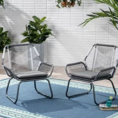 Outdoor Chair Lounge High Backed Cushions Modern Chairs Allmodern Spivey Patio With Cushion Set Of 2