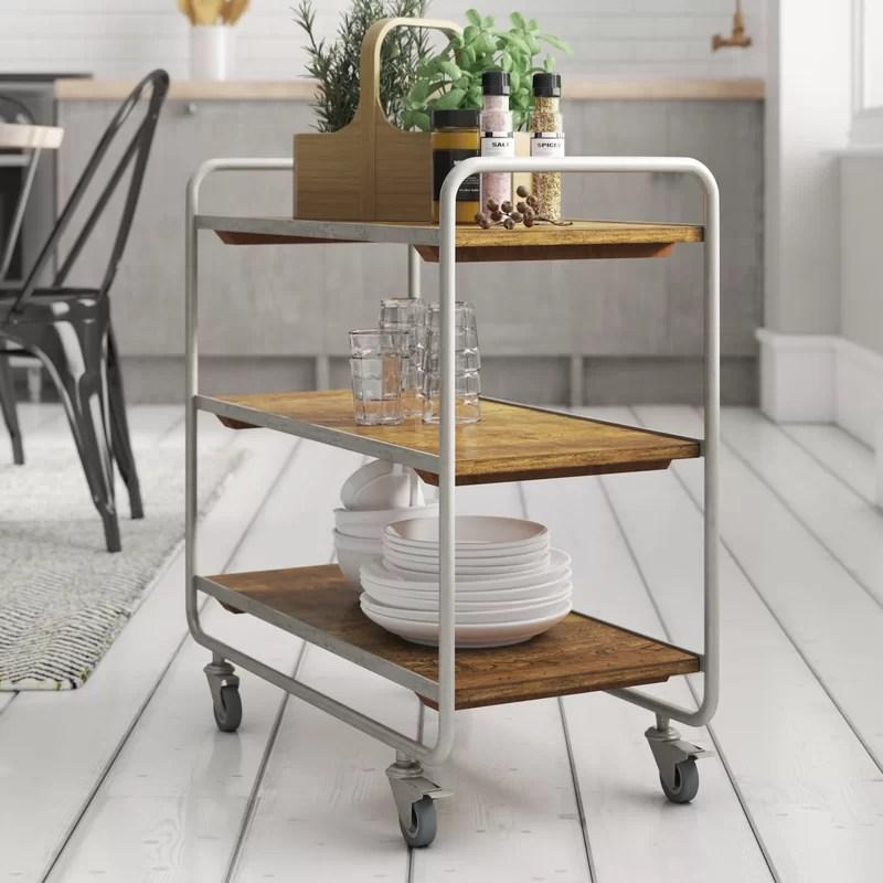 kitchen serving cart laminate cabinets laurel foundry marisol wayfair co uk
