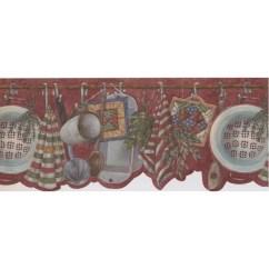Wall Paper Borders For Kitchens Distressed White Kitchen Table Retroart Utensils 15 X 10 Wallpaper Border Wayfair Ca