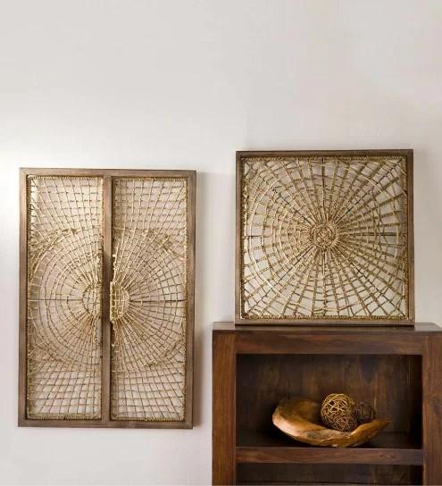 Vintage Woven Straw Fan Wall Hanging Jungalow Decor Wicker Wall Art ...