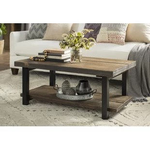 living rooms tables country decorating ideas for room coffee you ll love wayfair ca veropeso 42 wood metal table