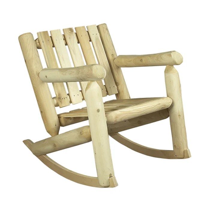 cedar rocking chairs unusual chair designs rustic low back indoor outdoor reviews wayfair