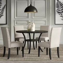 Grey Kitchen Chairs Swivel Chair Without Wheels Dining Room Sets You Ll Love Wayfair Save Dark Blue Gray