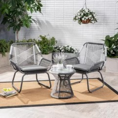 Metal Outdoor Chair Kohls Anti Gravity 39 99 Modern Furniture Allmodern Lindholm 3 Piece Rattan Seating Group With Cushions