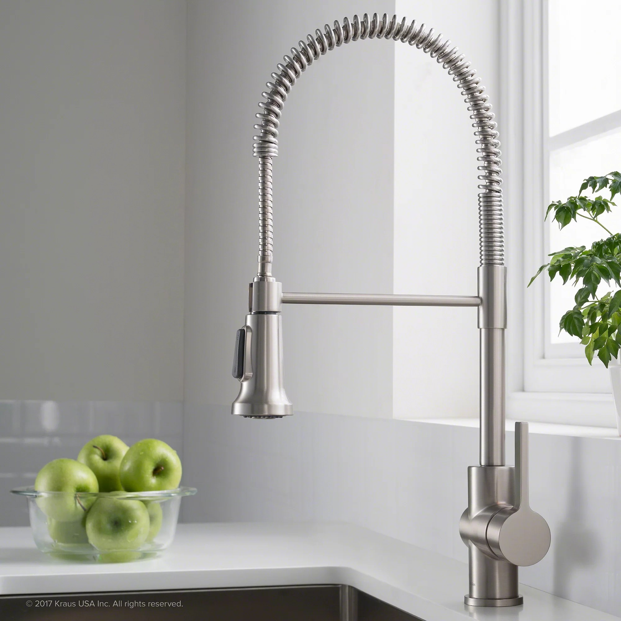 professional kitchen faucet unclog drain kraus britt commercial pull down single handle with kpf 1690sfs dual function