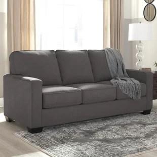 grey carleton nailhead sofa discount sofas free shipping sleeper birch lane madilynn