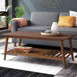 tables in living room design with grey walls modern coffee allmodern conrad table