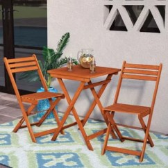 Outdoor Table And Chairs Wood Of The World Gw2 Furniture Birch Lane Altenwald Eucalyptus 3 Piece Folding Dining Set