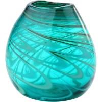 Mercury Row Turquoise Glass Table Vase & Reviews   Wayfair