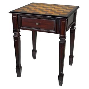 chess table and chairs office chair fabric with wayfair walpole manor gaming