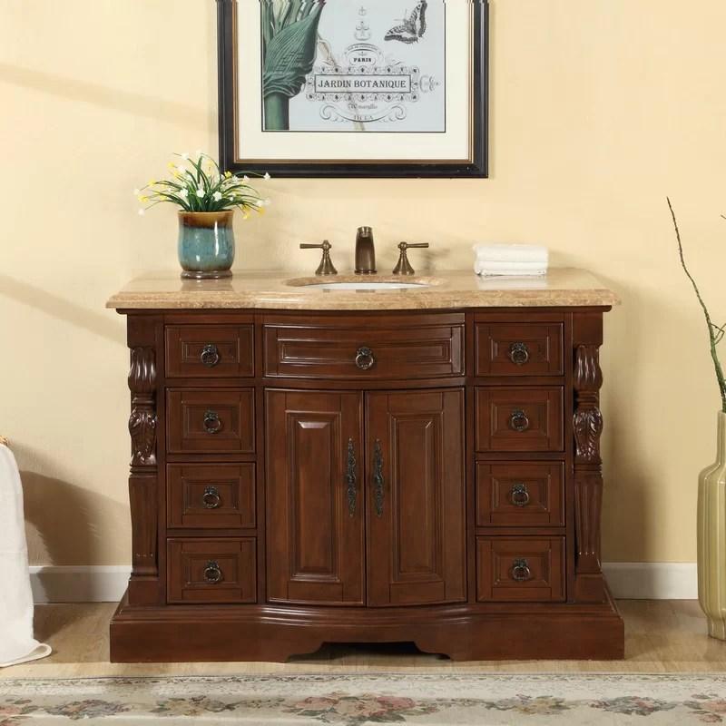 """silkroad exclusive 48"""" single sink bathroom vanity set & reviews"""