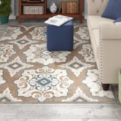Rug For Living Room Wallpaper Ideas Uk Area Rugs You Ll Love Wayfair Caffey Cerulean Blue Taupe