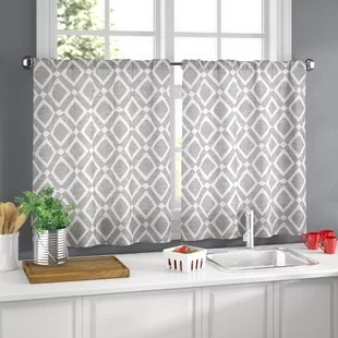 cafe kitchen curtains blue cabinets for sale wayfair quickview