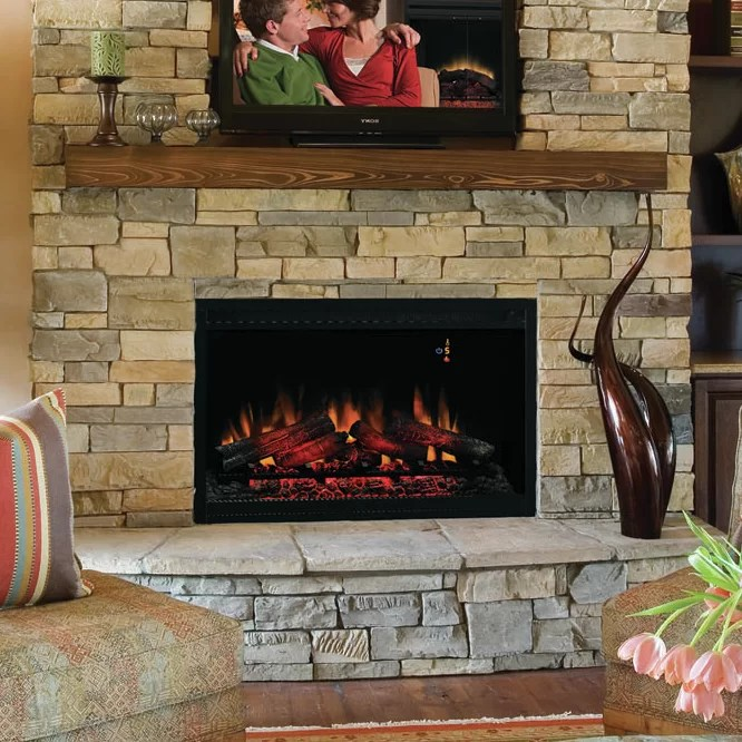 "Pictures Of Electric Fireplace Inserts Classic Flame 36"" Electric Fireplace Insert & Reviews"