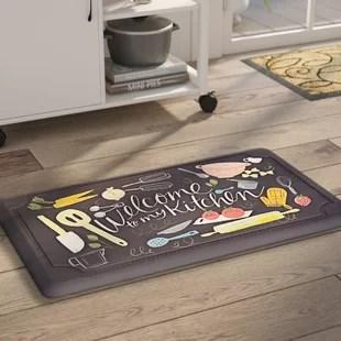 kitchen floor mats glass cabinets you ll love wayfair ca gothard scattered dri pro comfort mat