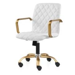White And Gold Chair Ikea Swivel Desk Wayfair Kell