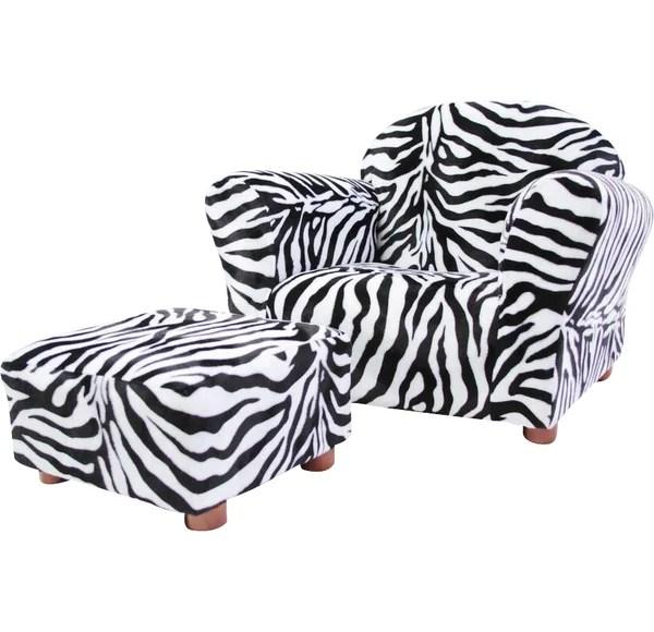 Keet Roundy Kids Faux Fur Club Chair and Ottoman & Reviews