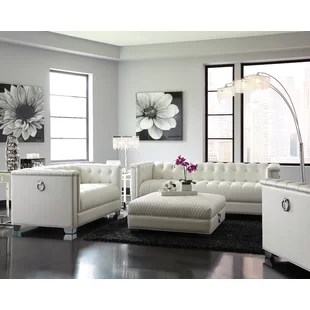 modern white living rooms single chairs room leather sets you ll love wayfair surakarta configurable set