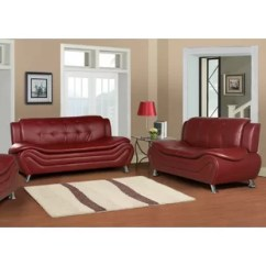 Red Leather Living Room Furniture Set Swivel Rocker Chairs For Sets You Ll Love Wayfair Quickview