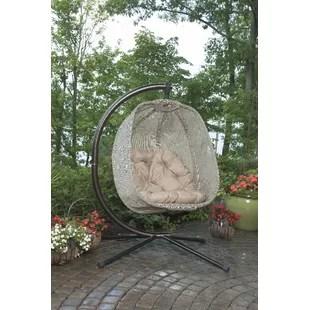 swing chair wayfair milo baughman lounge replica hammock chairs you ll love quickview