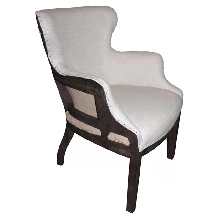 White x White Renson Barrel Chair  Reviews  Wayfair