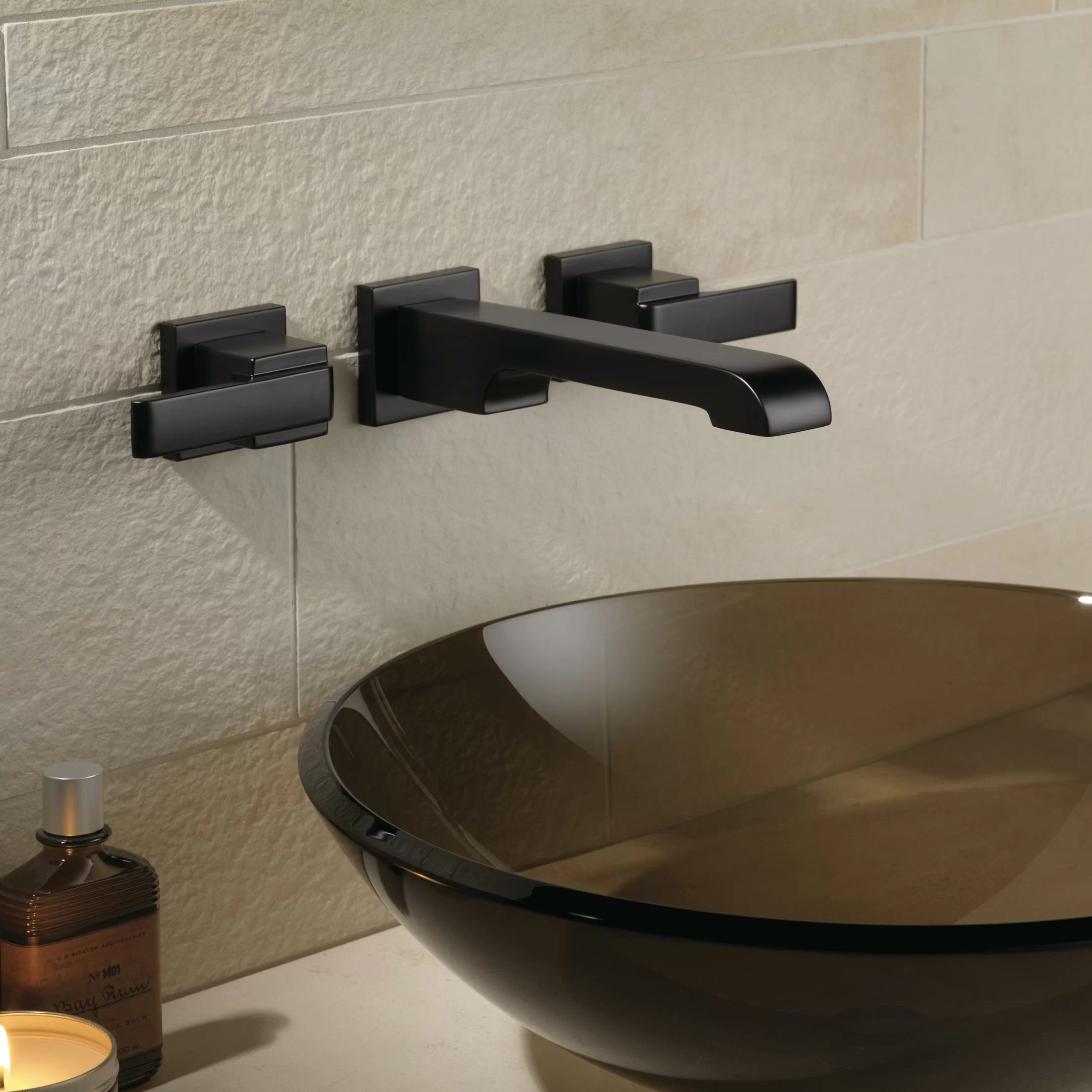 chrome delta faucet t3568lf wl ara two handle wall mount waterfall bathroom faucet mimbarschool com ng