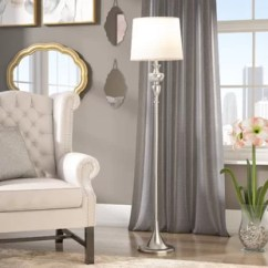 Floor Lamp Living Room Inspiration Gray Couch With Attached Table Wayfair Shortt 61 5 Standard
