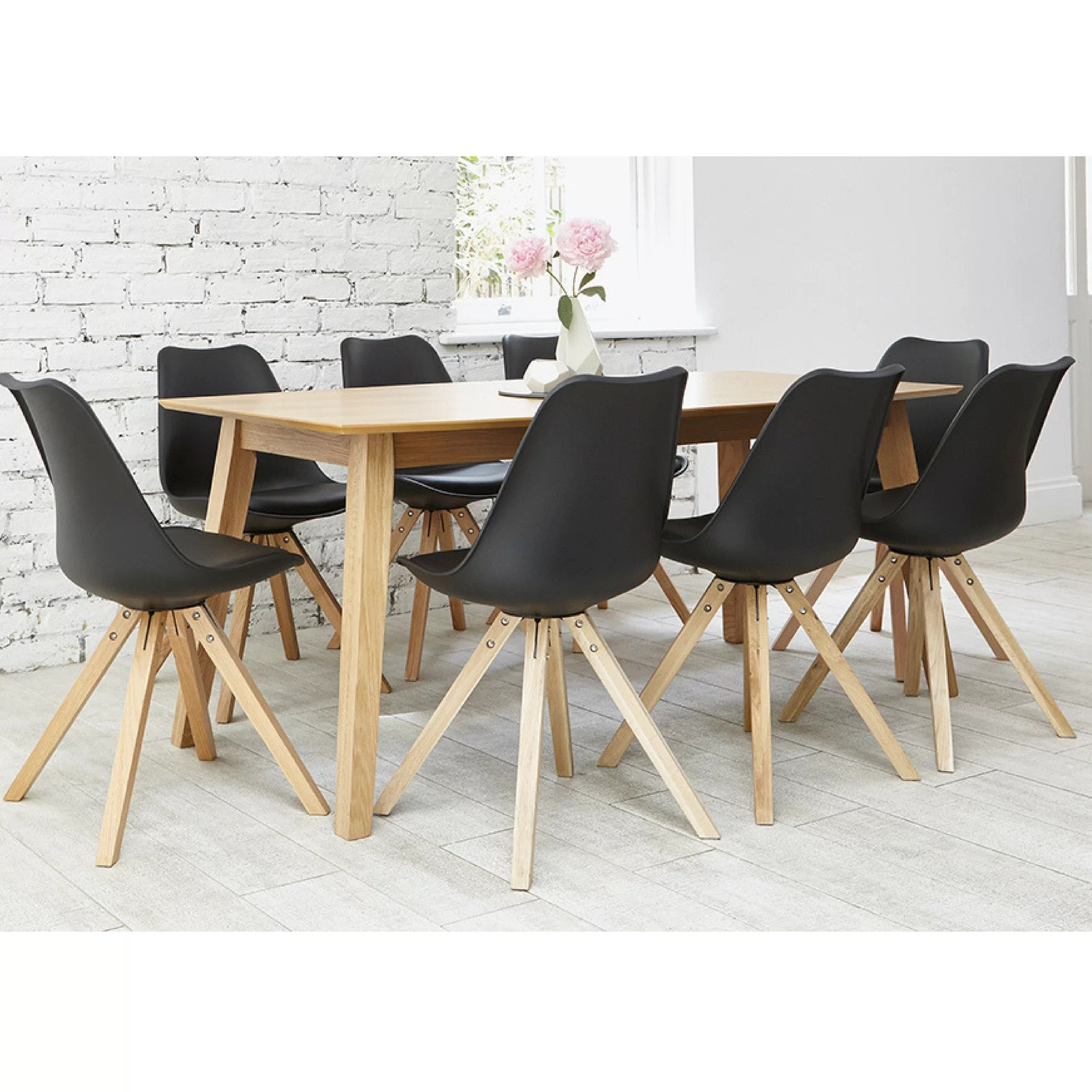 Dining Table 8 Chairs Greta Dining Set With 8 Chairs