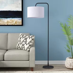 standing lights for living room bedroom and furniture floor lamps you ll love wayfair dale 63 75 arched lamp