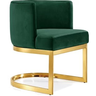 modern green dining chairs decorative office chair mats contemporary emerald allmodern quickview black gray