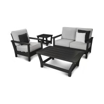 Polywood Harbour 4 Piece Sunbrella Sofa Set With Cushions