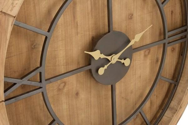 Wood and Metal Oversized Wall Clocks