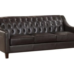 Tufted Leather Sofa Cheap 3 Seater Set Westland And Birch Sutton Top Grain Wayfair