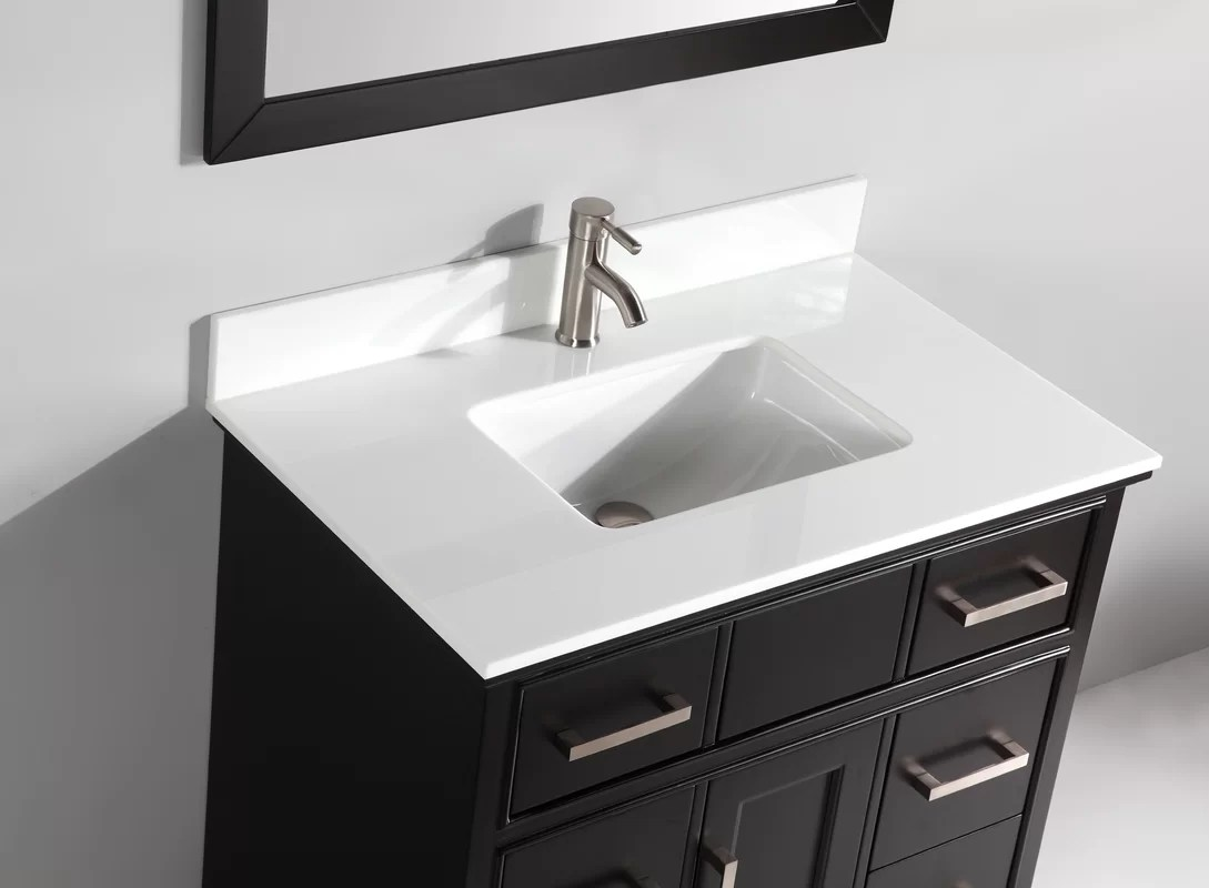 Phoenix Stone 36 Single Bathroom Vanity with Mirror