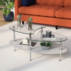 Glass Living Room Table Ashley Leather Furniture Wrought Studio Cate Coffee Reviews Wayfair