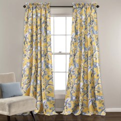 Kitchen Curtains For Bay Windows Speakers Isle Home Panagia Nature/floral Room Darkening Thermal ...