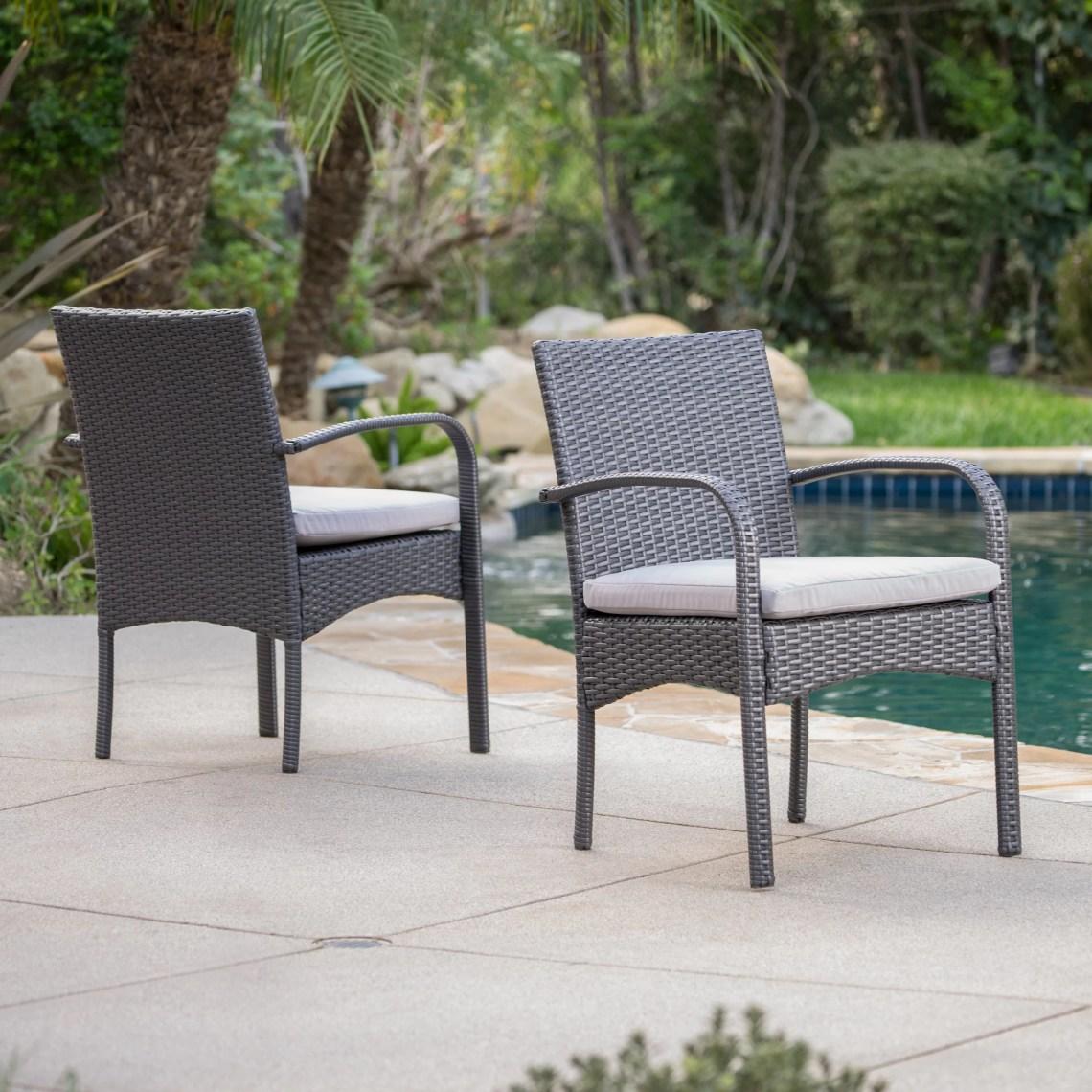 Bay Isle Home Mayaguana Patio Dining Chair With Cushion Reviews Wayfair