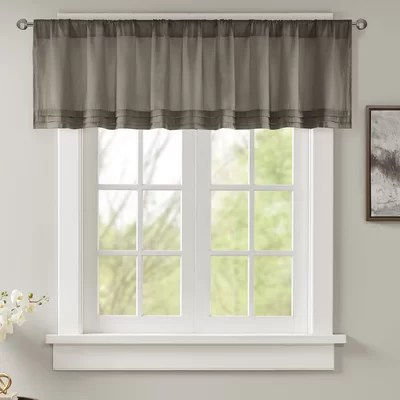 Gray  Silver Valances  Kitchen Curtains Youll Love in