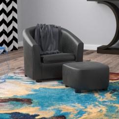 Kids Chair And Ottoman Charles Pollock Ebern Designs Ben Barrel Reviews Wayfair