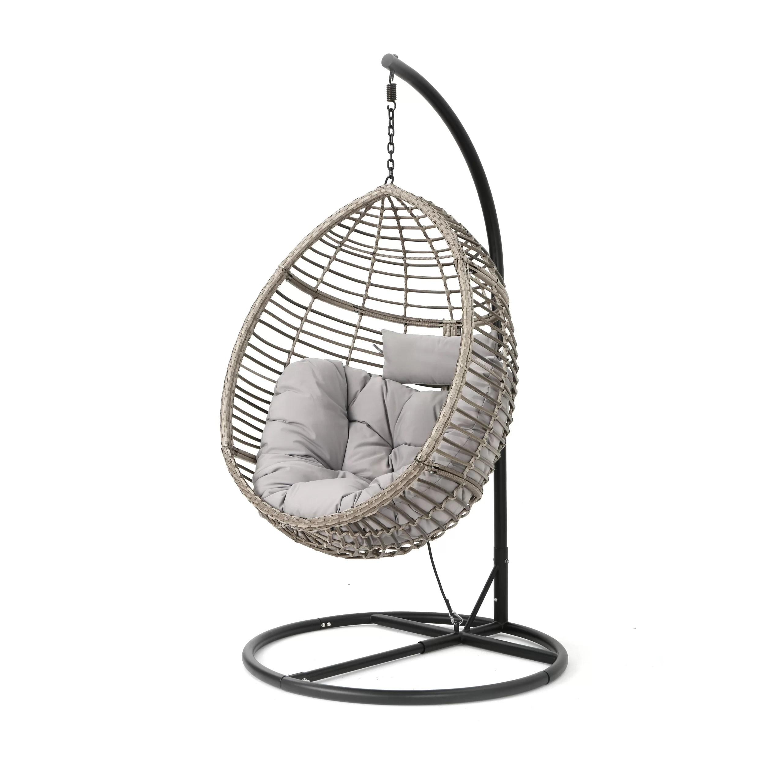 Swinging Chair Weller Outdoor Wicker Basket Swing Chair With Stand