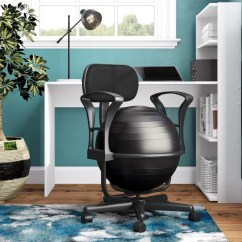 Ball Chair For Office Covers Evening Reception Symple Stuff Exercise Reviews Wayfair