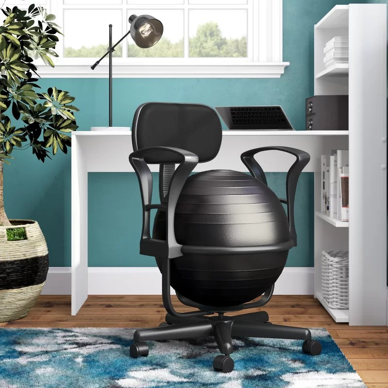desk chair or exercise ball steel india symple stuff reviews wayfair