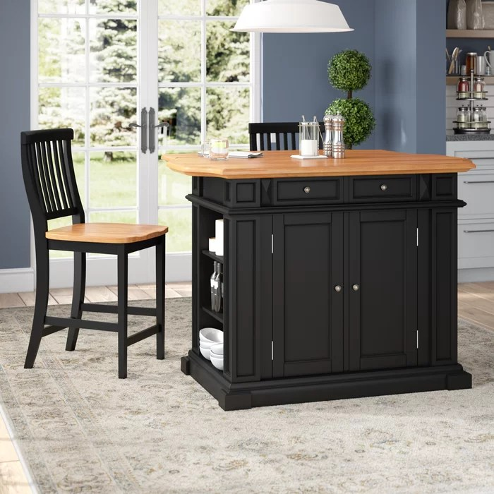 3 piece kitchen set rugs under table darby home co mattice island reviews wayfair ca
