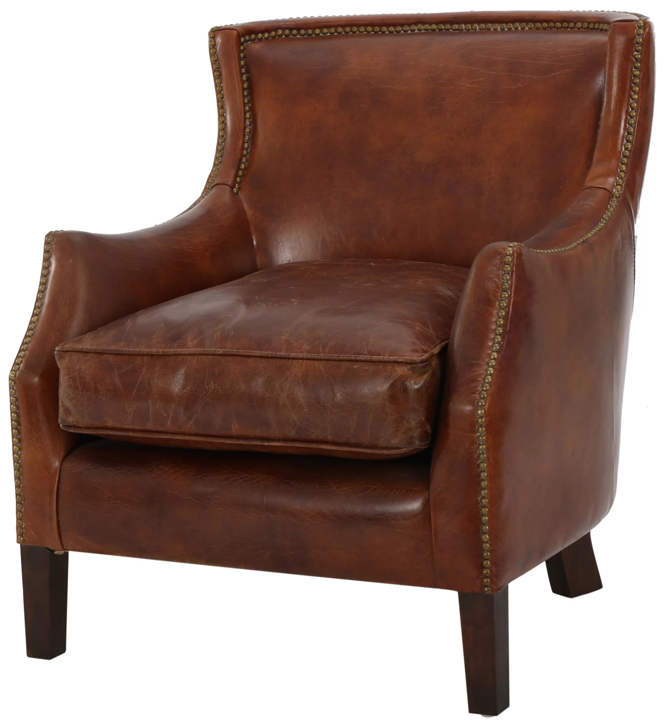 Brown Leather Chairs Colyer Armchair