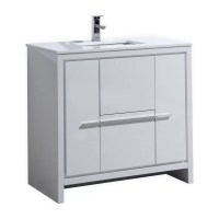 """Bosley 36"""" Single Modern Bathroom Vanity Set & Reviews ..."""