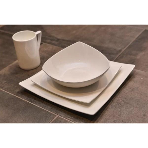 Red Vanilla Extreme 16 Piece Bone China Dinnerware Set Service 4 &