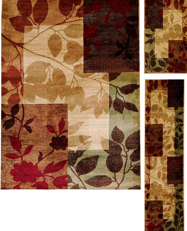 Andover Mills Raffin Beige/Brown Leaves Area Rug & Reviews