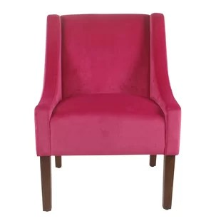 hot pink chair grey suede covers accent wayfair quickview